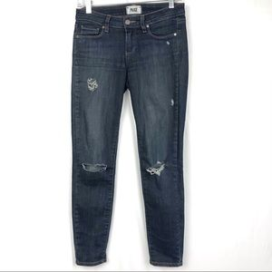 PAIGE Verdugo Ankle Dark Wash Skinny Jeans Sz 26